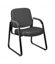 OFM 403-VAM Anti-Microbial Vinyl Mid-Back Guest Chair (black)