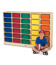 Jonti-Craft 30 Tub Mobile Classroom Storage with Colored Tubs