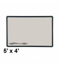 Best-Rite 404PF-T1-52 Evolution Projection Surface 5 ft. x 4 ft. Matte Gray Black Presidential Trim Whiteboard