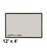 Best-Rite 404PM-T1-52 Evolution Projection Surface 12 ft. x 4 ft. Matte Gray Black Presidential Trim Whiteboard