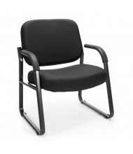 OFM 407 Big & Tall 400 lb. Fabric Guest Chair (in black)