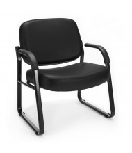 OFM 407-VAM Big & Tall 400 lb. Anti-Microbial Vinyl Mid-Back Guest Chair (black)