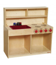 Wood Designs 3-N-1 Tot Kitchen Dramatic Play Set (Shown in Red)