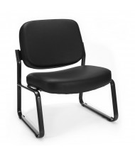 OFM 409-VAM Big & Tall 400 lb. Anti-Microbial Vinyl Mid-Back Guest Chair (black)