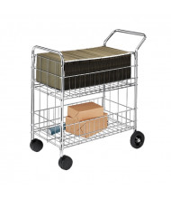Fellowes Worcester Mail Cart in Chrome
