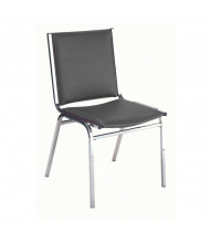 "KFI Seating 410 Vinyl 1"" Padded Seat Stacking Chair (Black Ebony)"