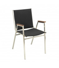 "KFI Seating 411 Fabric 1"" Padded Seat Stacking Chair (Black)"