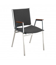 "KFI Seating 411 Vinyl 1"" Padded Seat Stacking Chair (Black)"