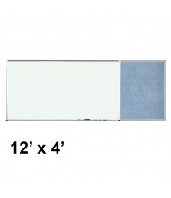 Best-Rite 412-6C-PM-X2 Style-E 12 ft. x 4 ft. Combo-Rite Tackboard and Porcelain Magnetic Combination Whiteboard (in pacific blue)