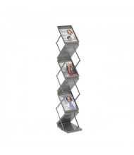 "Safco 56"" H 6-Compartment Portable Double-Sided Folding Literature Display"