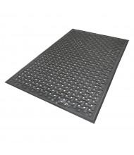 Comfort Flow 420 Rubber Back Kitchen Anti-Fatigue Floor Mats, Black