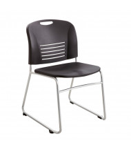 Safco Vy 4292 Sled Base Stacking Chair, 2-Pack, Black