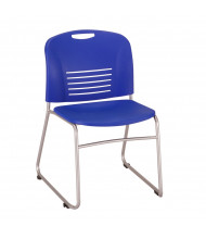 Safco Vy 4292 Sled Base Stacking Chair, 2-Pack, Blue