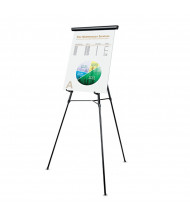 "Universal 43150 Lightweight 34"" to 64"" H Telescoping Tripod Easel Stand, Black"