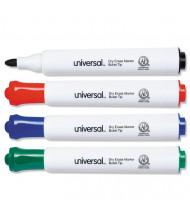 Universal Dry Erase Marker, Bullet Tip, Assorted, 4-Pack