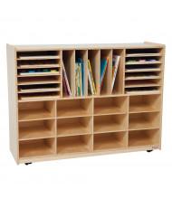 Wood Designs Childrens Classroom 12-Shelf Mobile Multi-Storage Unit