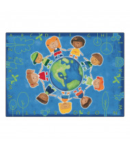 Carpets for Kids Give the Planet a Hug Rectangle Classroom Rug