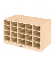 Jonti-Craft Double-Sided 40 Cubbie-Tray Island Classroom Storage Unit