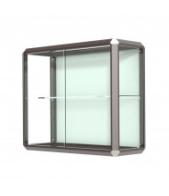 "Waddell Prominence 444 Series Wall Display Case 36""W x 30""H x 14""D (dark bronze)"