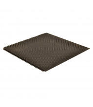 NoTrax 460 Skymaster HD 3' x 3' Rubber Back Modular Anti-Fatigue Floor Mat, Black