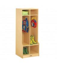 Jonti-Craft 2-Section Cubbie Coat Locker with Step