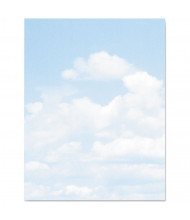 "Geographics 8-1/2"" x 11"", 24lb, 100-Sheets, Clouds Design Paper"