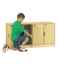 Jonti-Craft ThriftyKYDZ 4-Section Lockable School Locker