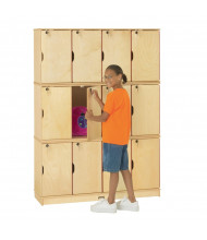 Jonti-Craft ThriftyKYDZ 12-Section Lockable School Locker