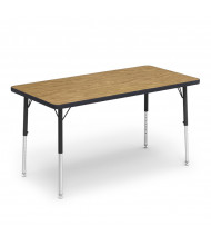"""Virco 48"""" x 24"""" Short Leg Rectangular Classroom Activity Table (medium oak)"""
