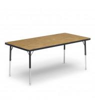 """Virco 60"""" x 30"""" Short Leg Rectangular Classroom Activity Table (medium oak)"""