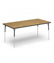 "Virco 72"" x 30"" Rectangular Classroom Activity Table (Shown in Medium Oak)"