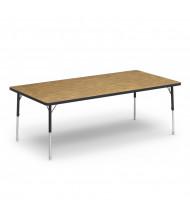 "Virco 48"" W x 24"" D Short Leg Classroom Activity Table (Shown in Oak)"