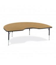 """Virco 72"""" x 48"""" Short Leg Kidney Classroom Activity Table (medium oak)"""