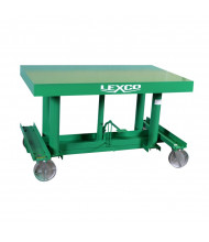 Lexco Long Deck 2000 to 3000 lb Load 5 ft to 10 ft Hydraulic Manual Lift Tables