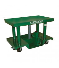 "Lexco 3000 to 6000 lb Load 48"" x 30"" Table Portable Manual Hydraulic Lift Tables"