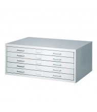 """Safco Facil 5-Drawer Small Flat File Cabinet for 36"""" x 24"""" Sheets"""