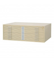 "Safco 10-Drawer Flat File Cabinet for 30"" x 42"" Sheets (Shown in Tropic Sand)"