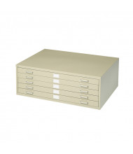 """Safco 4994 5-Drawer 36"""" x 24"""" Steel Flat File - Shown in Tropic Sand"""