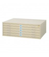 "Safco 5-Drawer Flat File Cabinet for 36"" x 48"" Sheets (Shown in Sand Beige)"