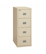 "FireKing Patriot 4-Drawer 25"" Deep 1-Hour Rated Fireproof File Cabinet, Letter & Legal (Shown in Parchment)"