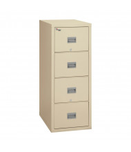 "FireKing Patriot 4-Drawer 31"" Deep 1-Hour Rated Fireproof File Cabinet, Letter (Shown in Parchment)"
