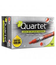 Quartet EnduraGlide Dry Erase Marker, Chisel Tip, Red, 12-Pack