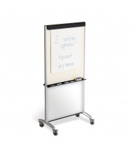 "Quartet 500TE Total Erase 33"" x 39"" 3-in-1 Melamine Mobile Presentation Easel (Whiteboard side shown with separate flip chart pad)"