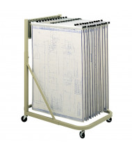 "Safco Vertical Hanging File Mobile Stand for 18"" - 42"" W Sheets, Sand"