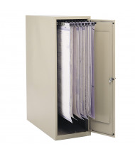 "Safco Vertical Hanging File Small Storage Cabinet for 18"" - 24"" W Sheets, Sand"