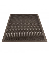NoTrax 504 Beveled Drain-Step 3' x 5' Rubber Drainage Anti-Slip Anti-Fatigue Floor Mat, Black