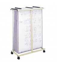 "Safco Vertical Hanging File Mobile Stand for 24"" - 36"" W Sheets, Sand"