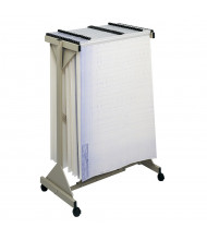 "Safco Vertical Hanging File Mobile Stand for 24"" - 42"" W Sheets, Sand"