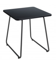 "Safco Anywhere 5090 20"" W End Table, Black/Black"