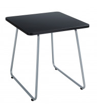 "Safco Anywhere 20"" W End Table, Black/Silver"